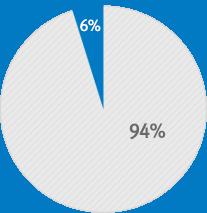 2008년 글로벌 매출비중 6%